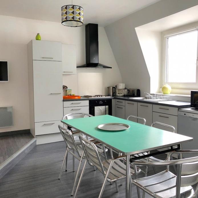#lesgitesdebeatrice #gîteàmulhouse #location saisonnière #appartement #cuisine